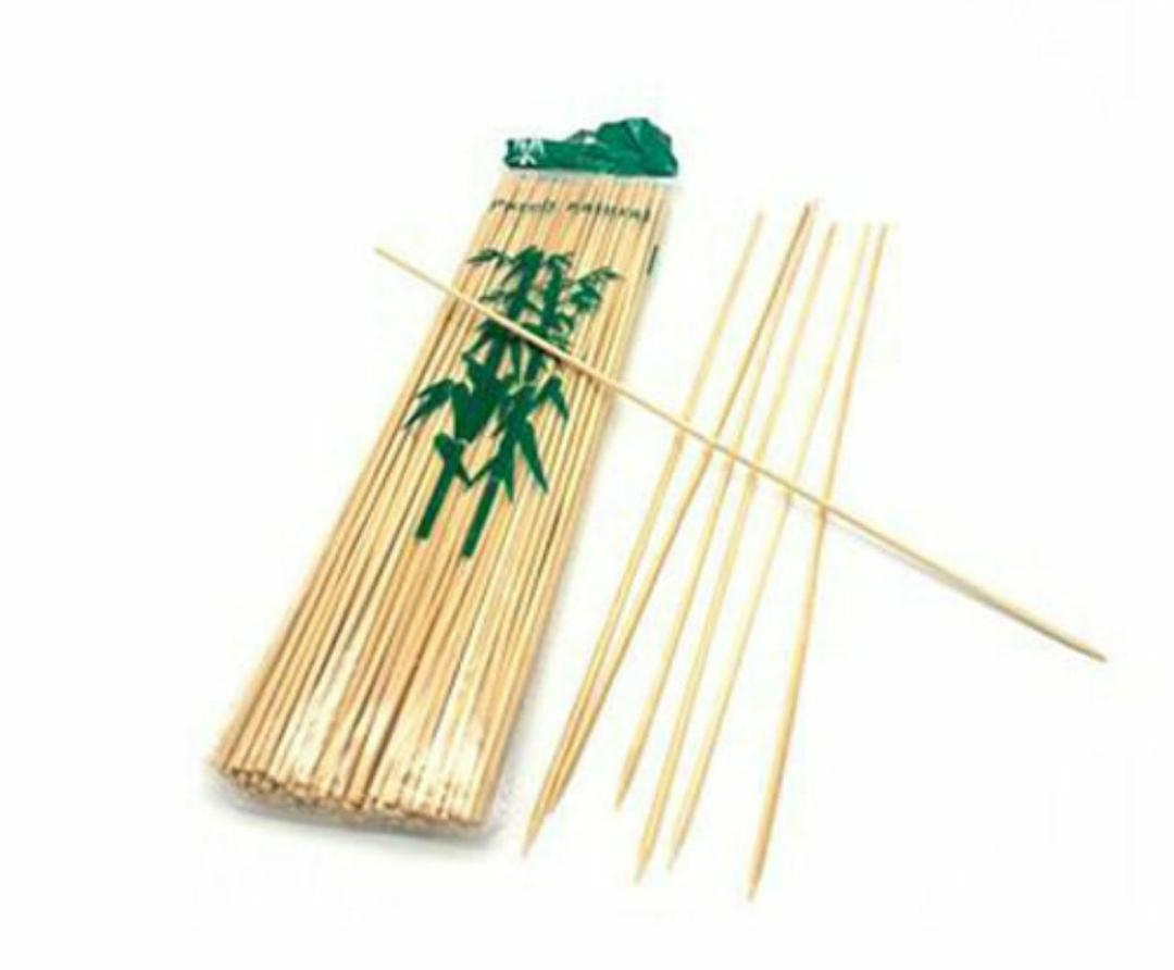 سیخ چوبی آشپزی 25 سانتی 2 بسته ای