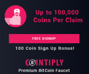 کسب بیت کوین رایگان از سایت Cointiply