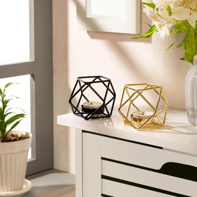 جاشمعی فلزی با طراحی مینیمال و مدرن