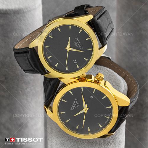 ست ساعت مردانه و زنانه Tissot مدل W6325 (مشکی)