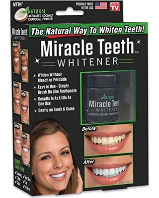 پودر زغال سفید کننده ی دندان میراکل