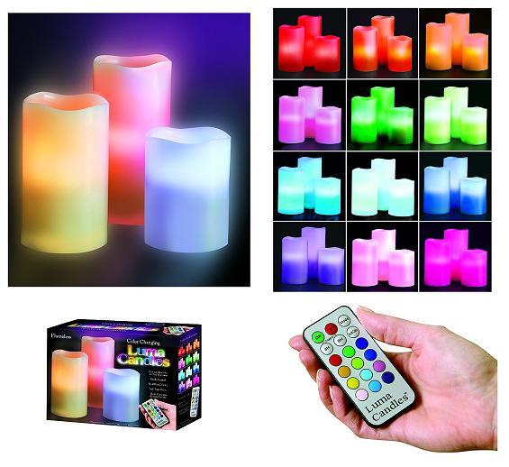 شمع های led لوما کندل 12 رنگ