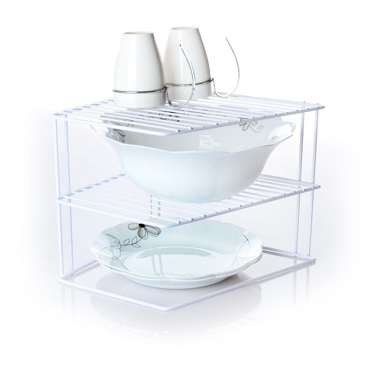 آبچکان و قفسه ی ظروف دکوری رومیزی گوشه ای
