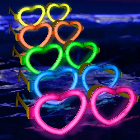 عینک بلک لایت Glow فریم قلب 2عدد