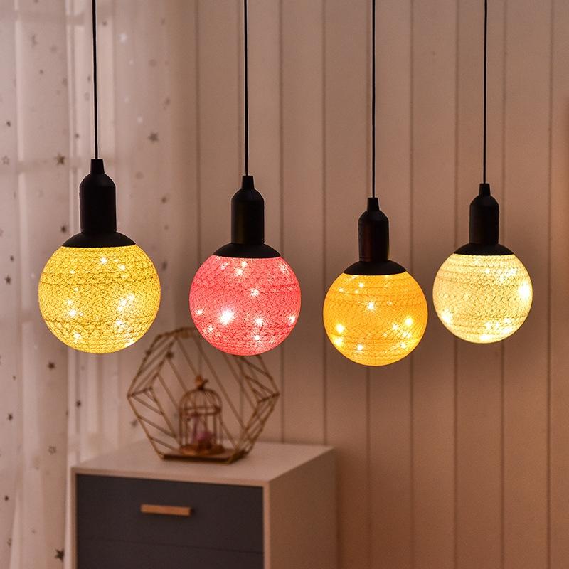 لامپ های توپی دکوراتیو با روکش کتان