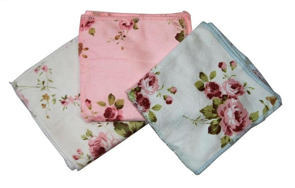 دستمال میکروفایبر گلدار  3 عددی