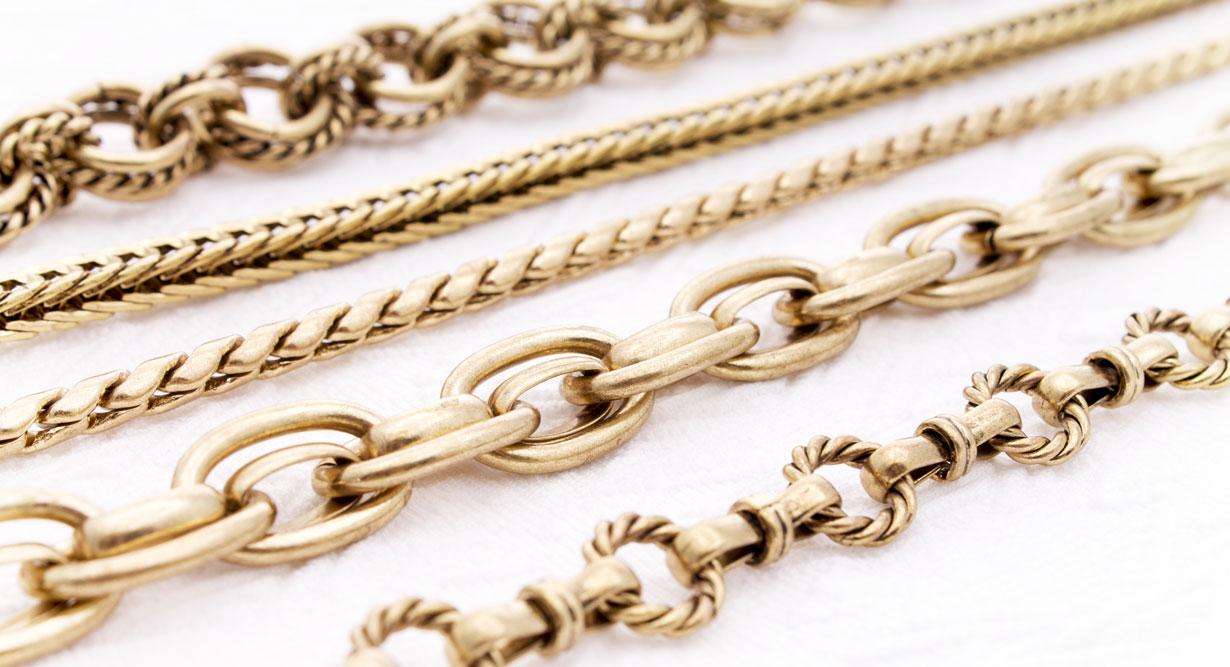 طول و ضخامت و نرم بودن زنجیر طلا